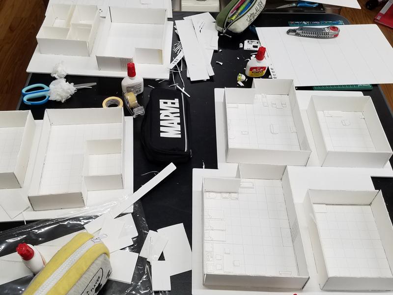 建築模型作成